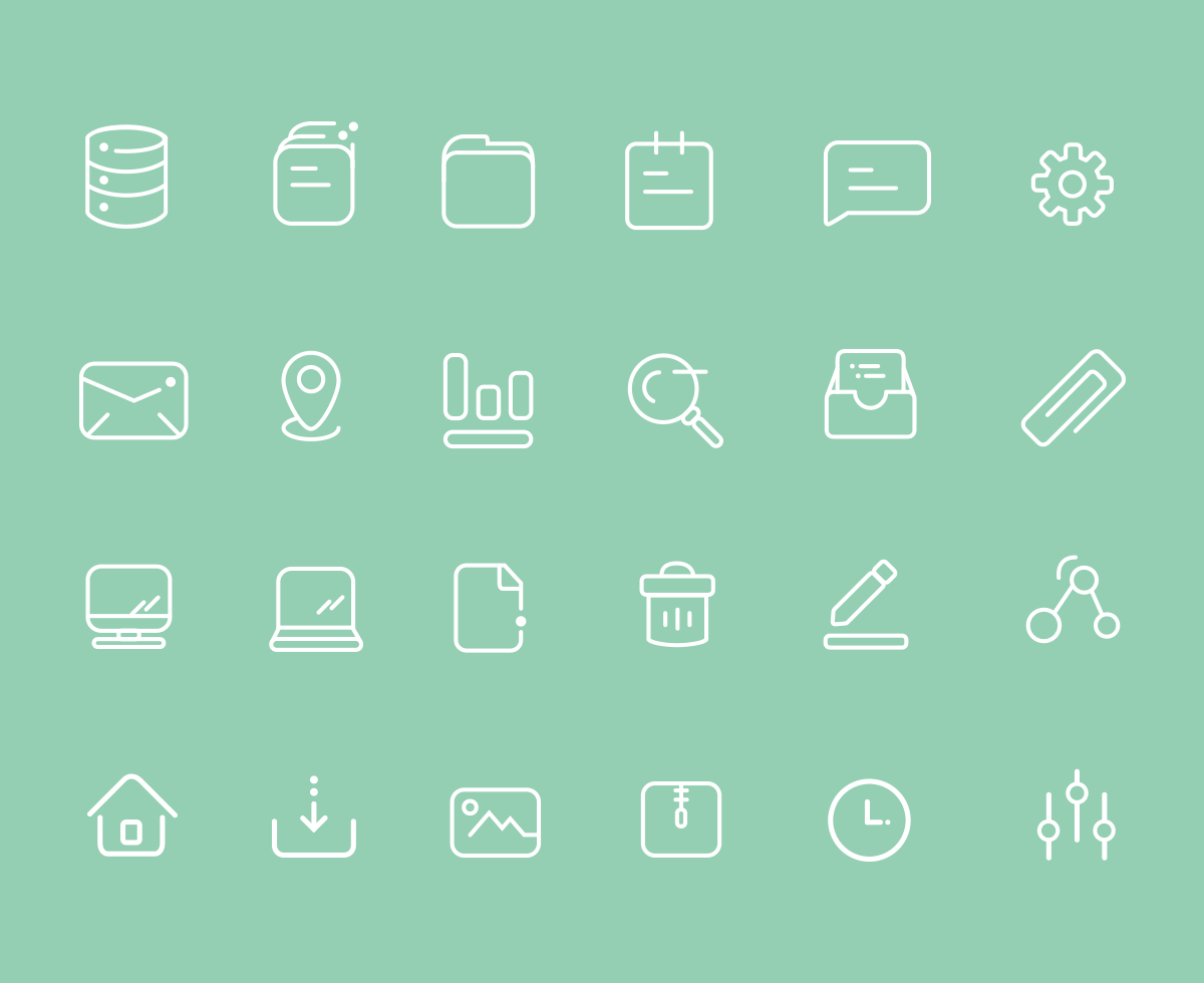 24 User Interface Icons