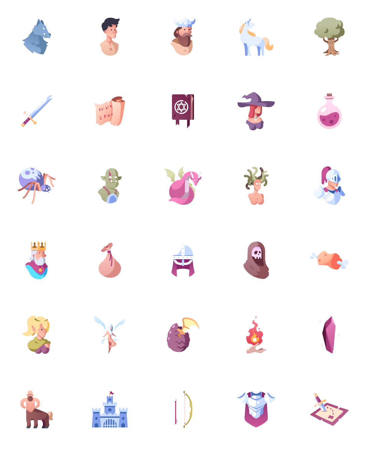 Fantasy and Role-Play Game Icons