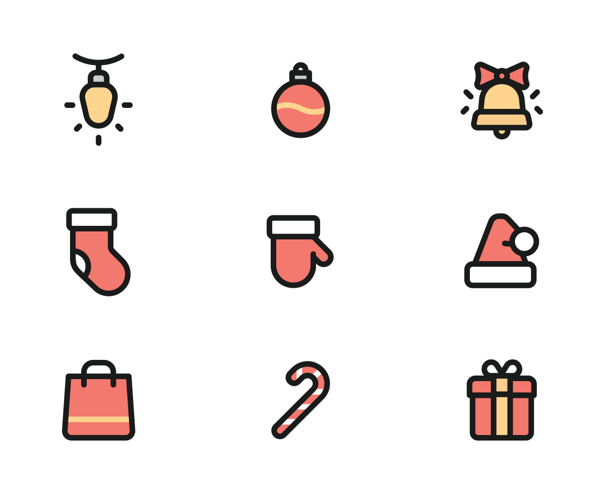 *Free* Christmas Icons - Colored