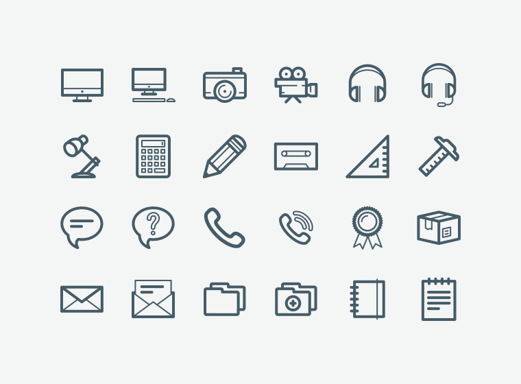 100 Office Icons