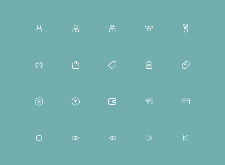170 Thin Line UI Icons