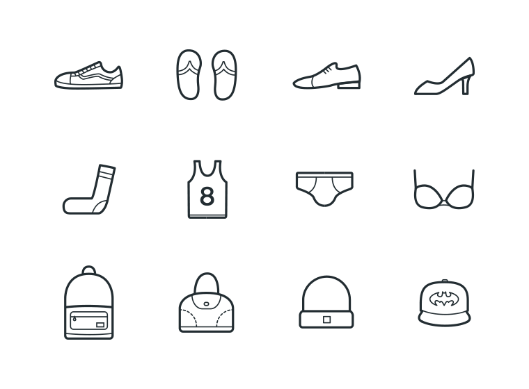 24 Clothes Icons