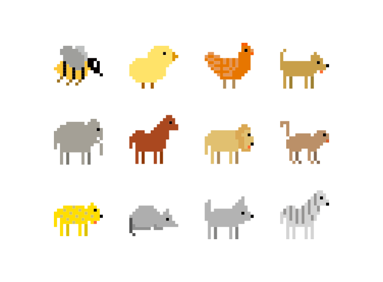 Animals Pixel Art