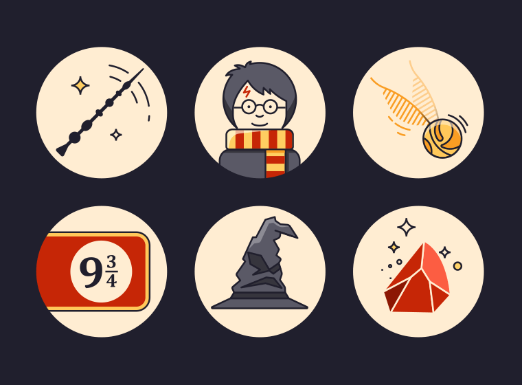 Harry Potters Icons