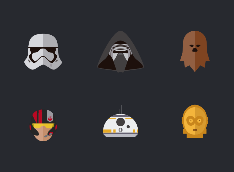 Star Wars, The force awakens - Icons