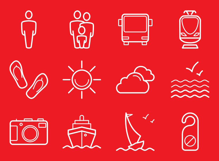 Tourism Icons Pack