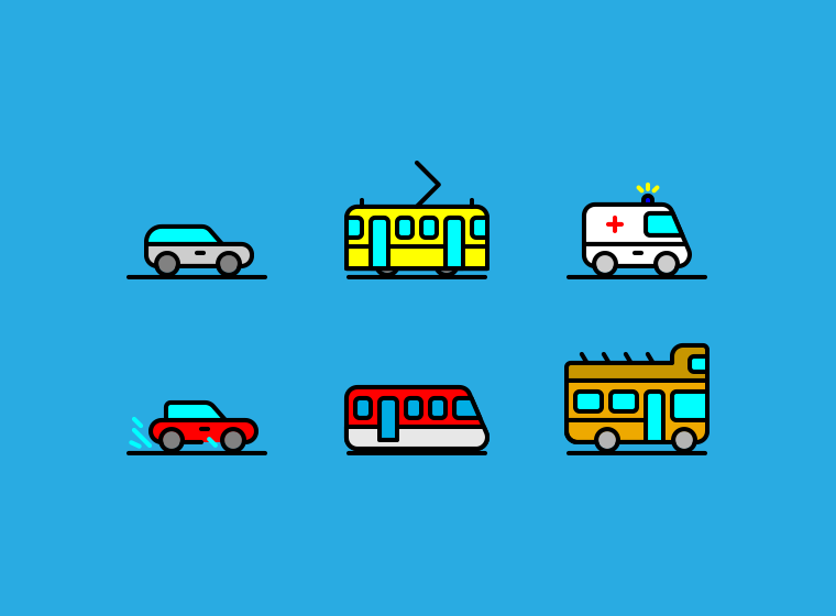 Traffic & Transportation Icons