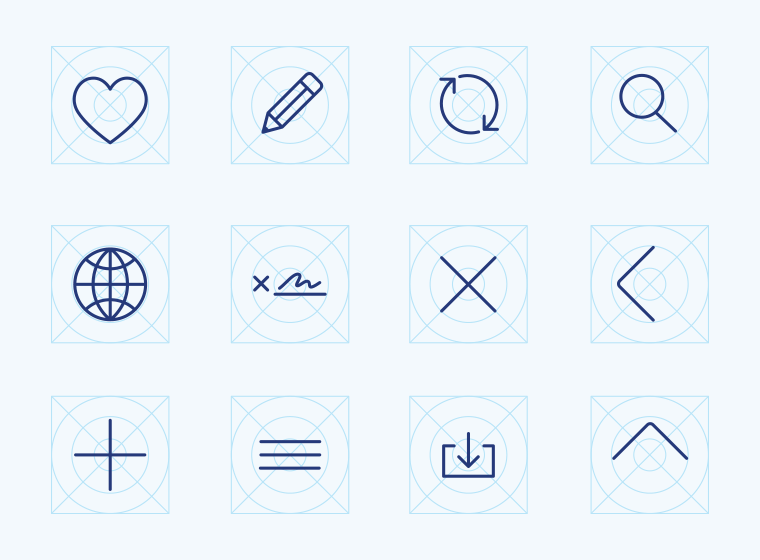 Wireframing Icons Vol1
